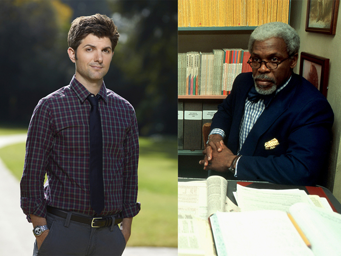Adam Scott and Danny Glover