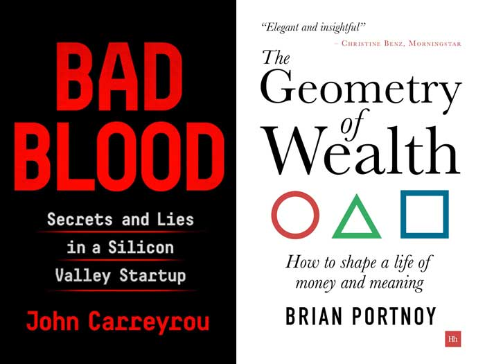 BOOK COVERS: Bad Blood + The Geometry of Wealth