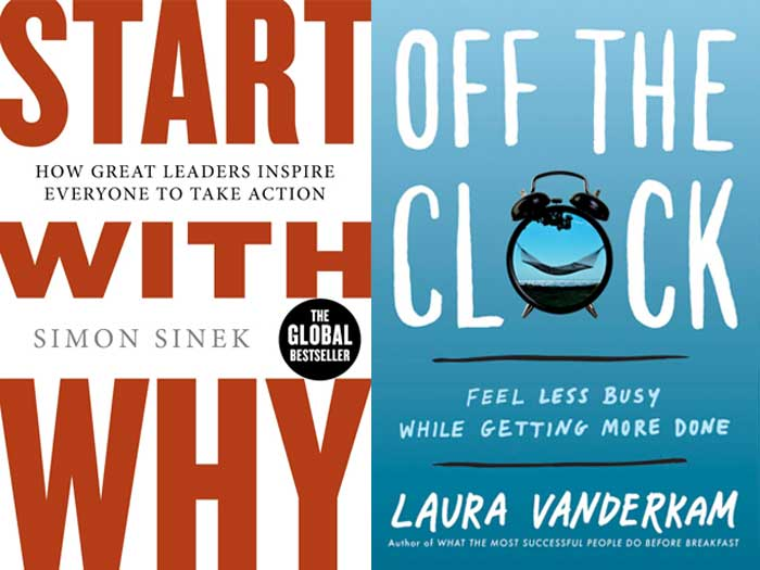 BOOK COVERS: Start With Why + Off The Clock