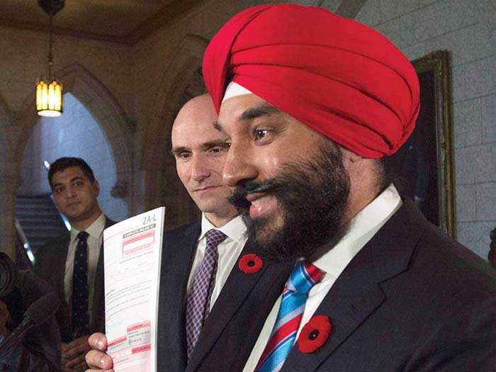 Navdeep Bains with census