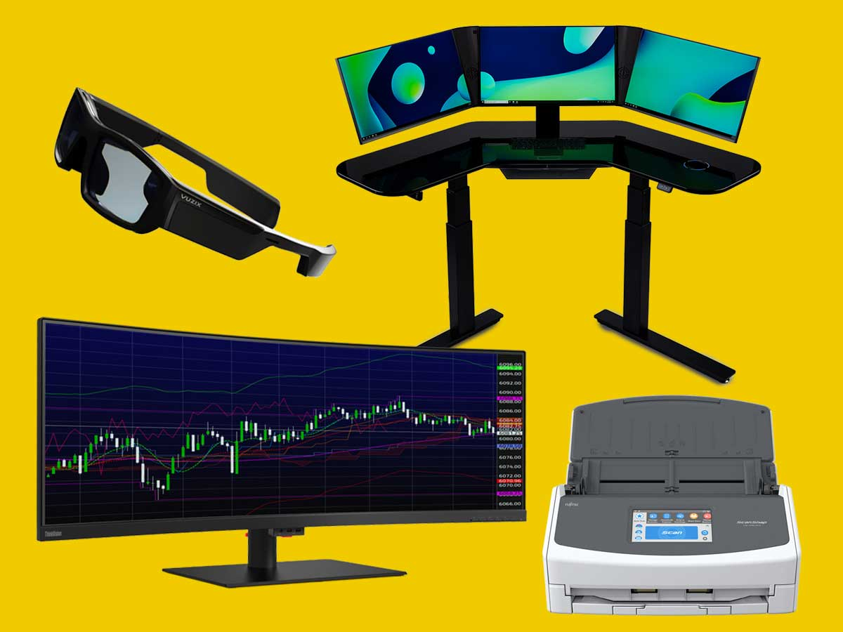 Gadgets for accountants: FujitsuScanSnap iX1500, Cemtrex SmartDesk, Vuzik Blade glasses, Lenovo Thinkvision P44W