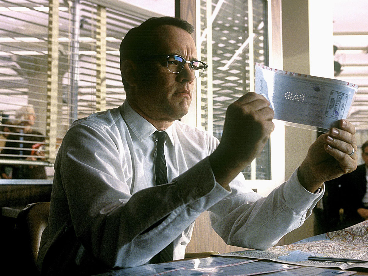 a scene with Tom Hanks from the Steven Spielberg's 2002 film 'Catch Me if You Can'