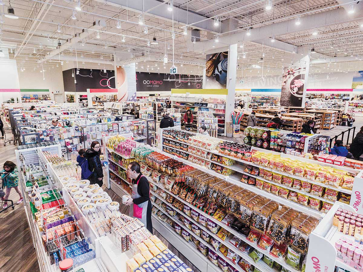 Inside view of a popular Dollar store Oomomo in Japan