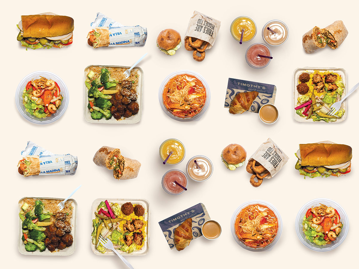 A sample of meals from brands operated by MTL Group Inc.
