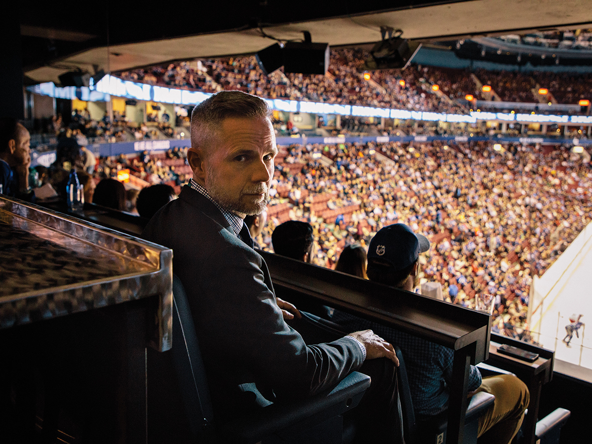 Brad Pennefather, head of the Vancouver Canucks' customer analytics team, at the Rogers Arena