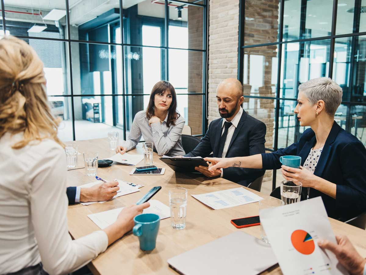 Business team having meeting in an office