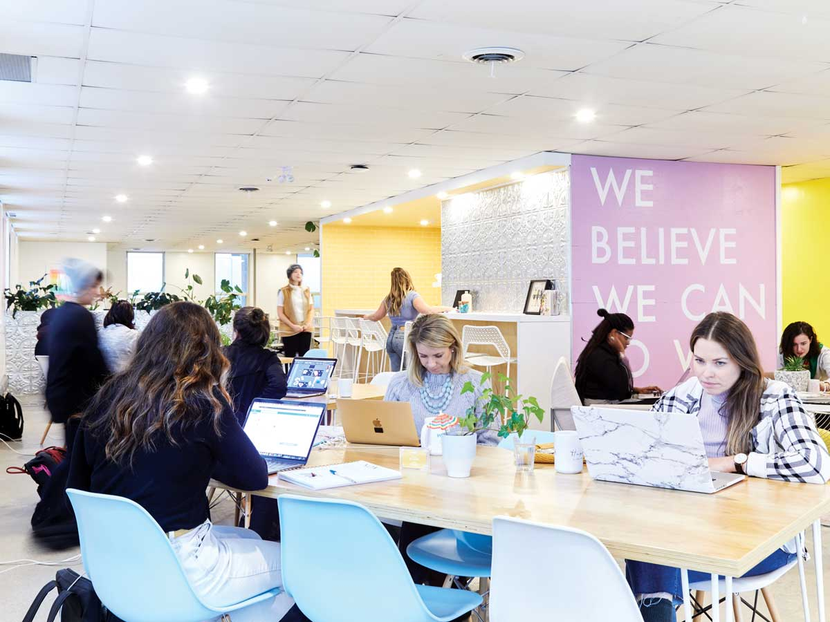 women working at Make Lemonade