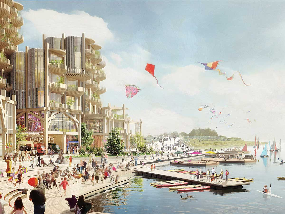 Artist's rendering of Sidewalk Labs' proposed Quayside project