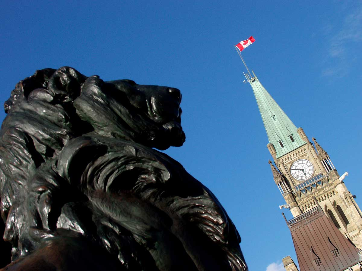 Peace Tower and Lion