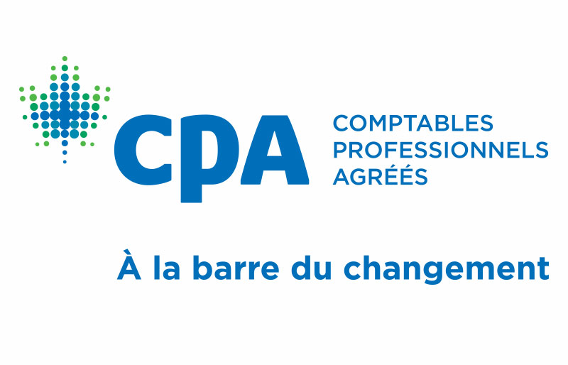 "CPA Canada logo with the tagline, ""Navigating Change."""
