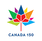 Rainbow maple leaf, Canada 150 logo