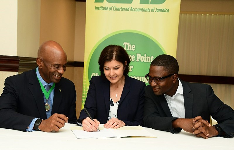 MOU signing of 2019: ICAJ and CPA Canada in Jamaica