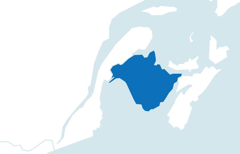 Map of province of New Brunswick