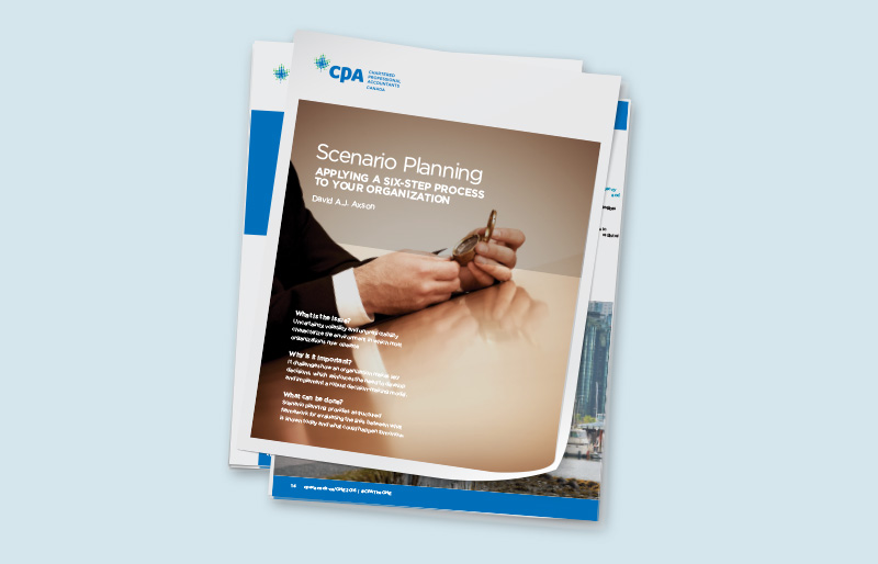 Covers of CPA Canada publications for business