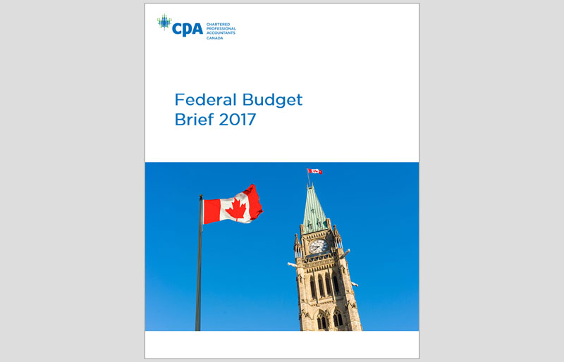 Cover of CPA Canada's Federal Budget Brief 2017.