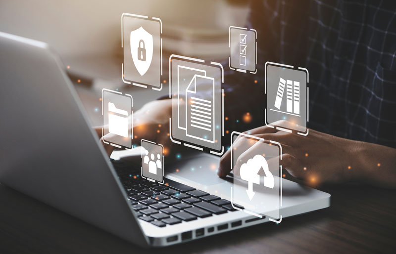 "A picture frame with the words ""Your Potential is Endless"" hang on a wall over a desk"